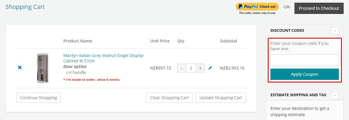 How do I use my Chic Paradis coupon code?
