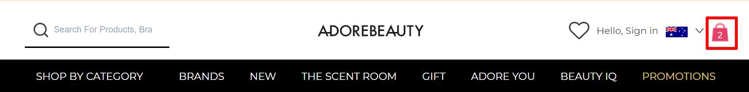 Adore Beauty bag AU