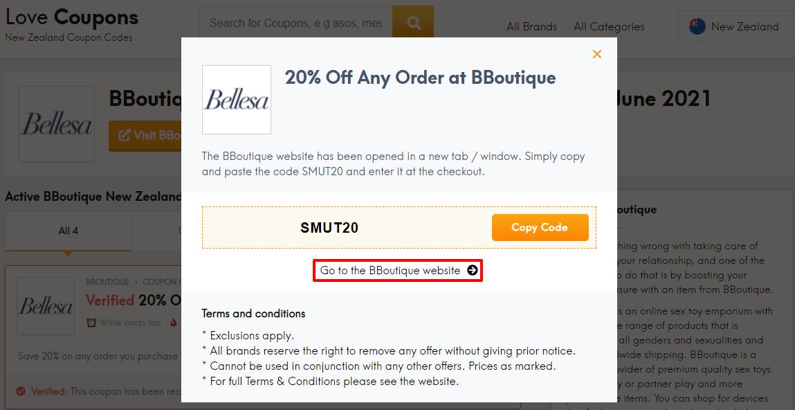 BBoutique Offer Code NZ