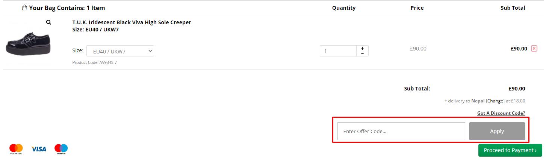 How do I use my T.U.K. discount code?