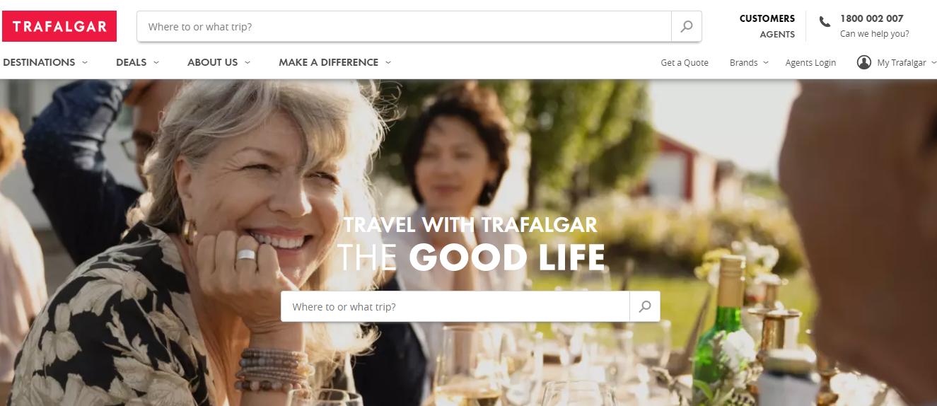 Trafalgar Tours Homepage