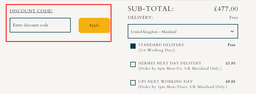 How do I use my Gibson London discount code?