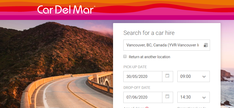 About Car Del Mar homepage