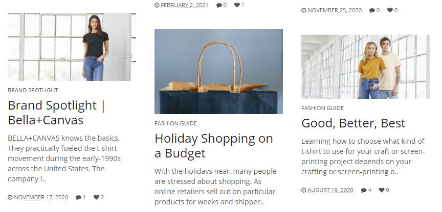 Clothing Shop Online Blog
