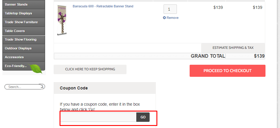 How do I use my Epic Displays coupon code?