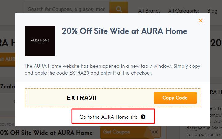 Go to AURA Home site