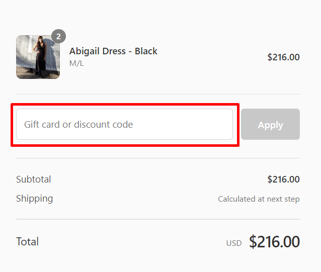 How do I use my Karina Dresses discount code?