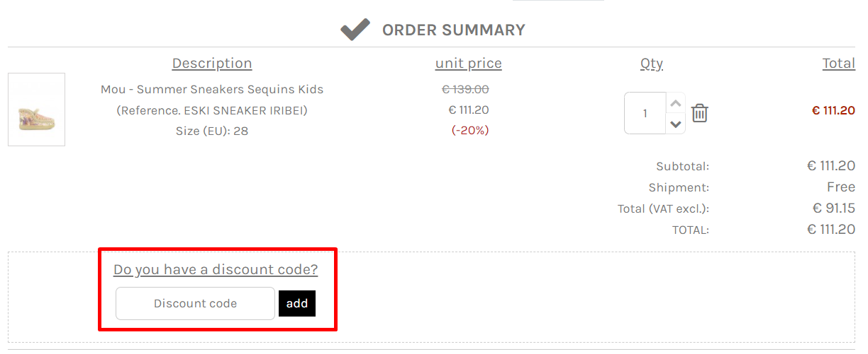 How do I use my CRISTIANO discount code?