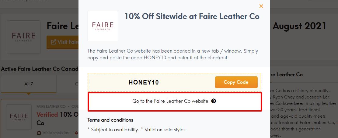 Faire leather ca