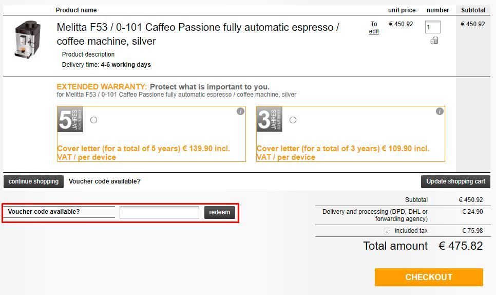 How do I use my Kaffeeno voucher code?