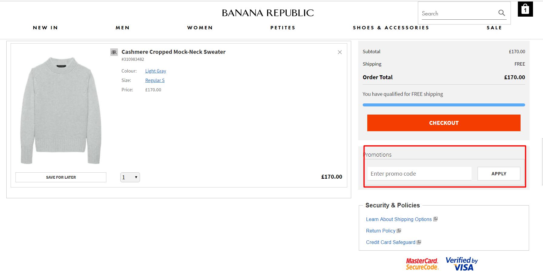 How do I use my Banana Republic discount code?
