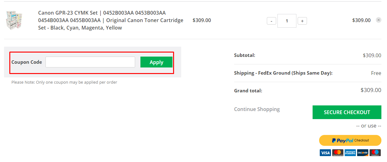 How do I use my Toner Buzz coupon code?
