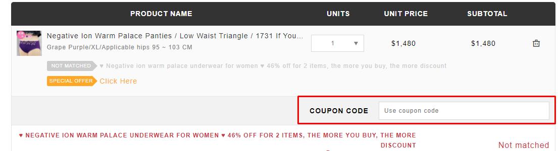 How do I use my NANOone coupon code?