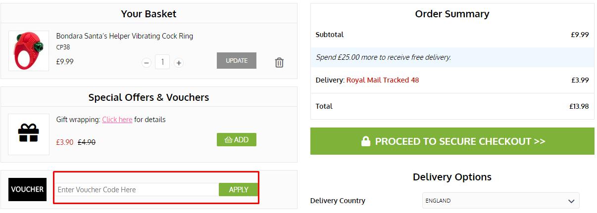 How do I use my Bondara voucher code?