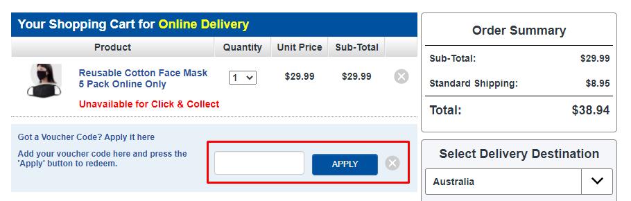How do I use my Chemist Warehouse voucher code?