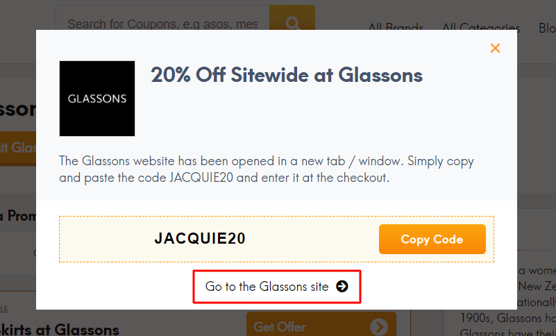 Go to Glassons site