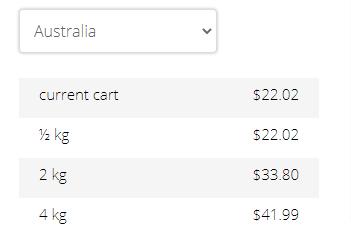 Adagios Teas shipping