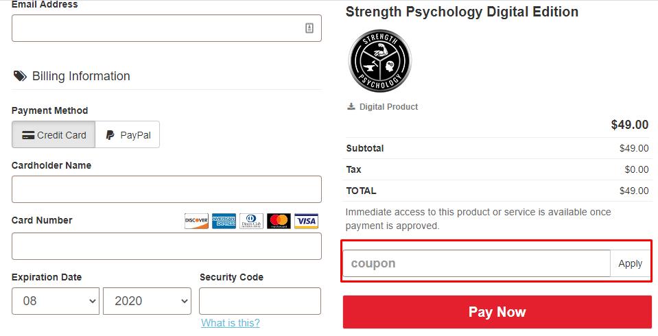 How do I use my CriticalBench.com coupon code?