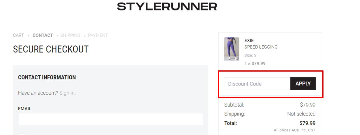 Style Runner Code