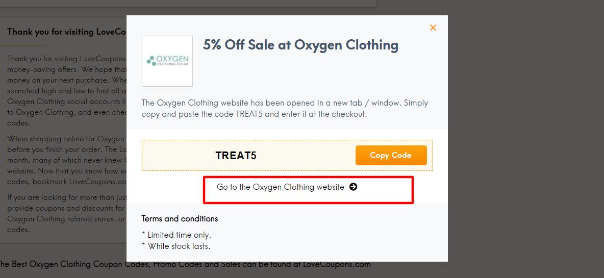 LCC Oxygen Coupon