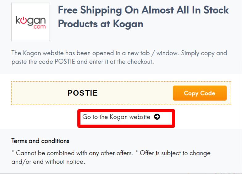 Kogan Coupon AU LC Site