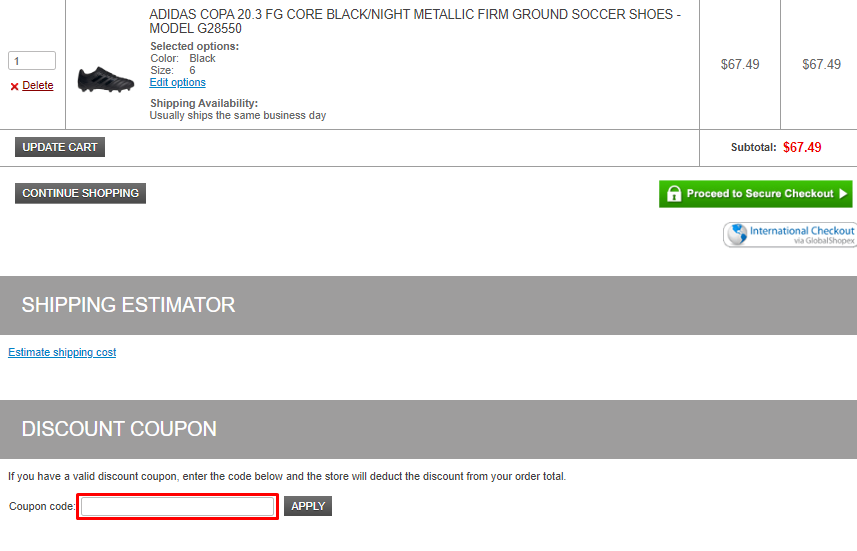 How do I use my Soccer Garage coupon code?