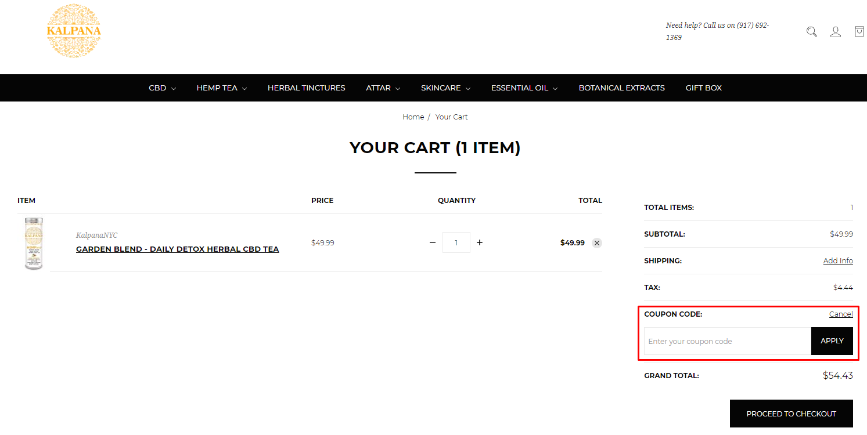 How do I use my Kalpana NYC coupon code?
