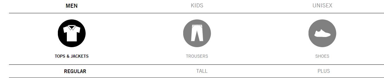 BoohooMan Size Guide