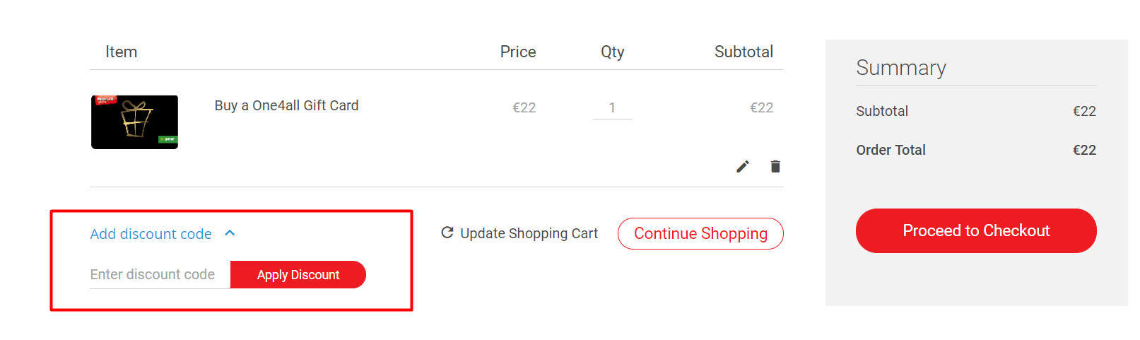 How do I use my One4All discount code?