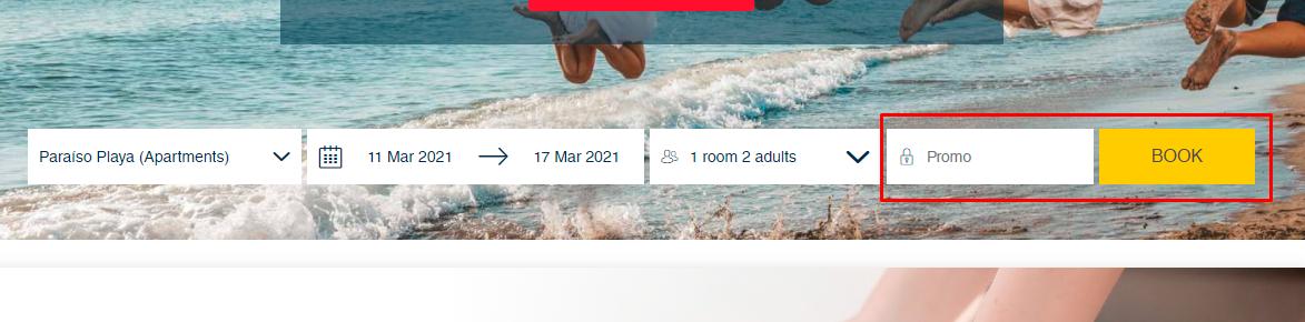 How do I use my Hoteles Playa Senator promo code?