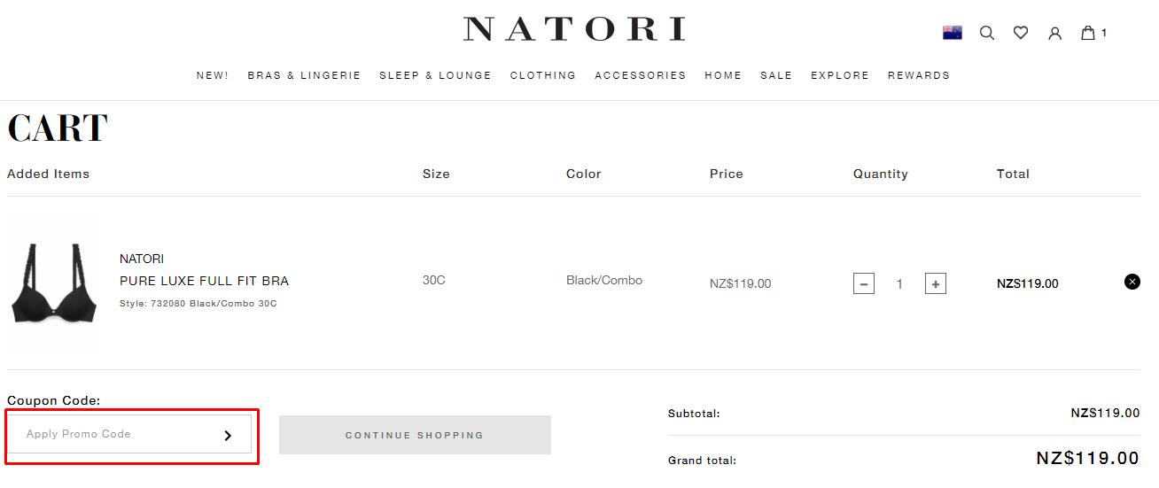 How do I use my Natori coupon code?