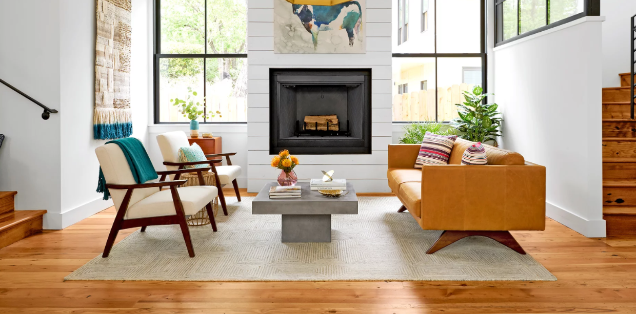 Feel at home with warm hardwood timber furniture