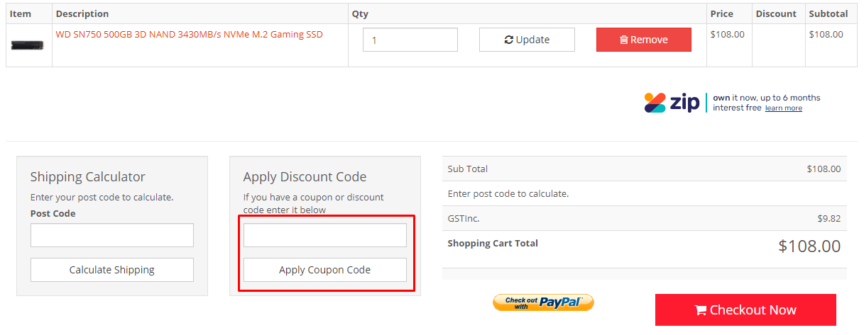How do I use my Shopping Express discount code?