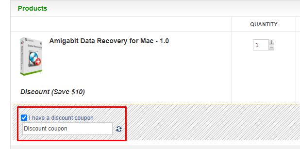 How do I use my Amigabit discount code?