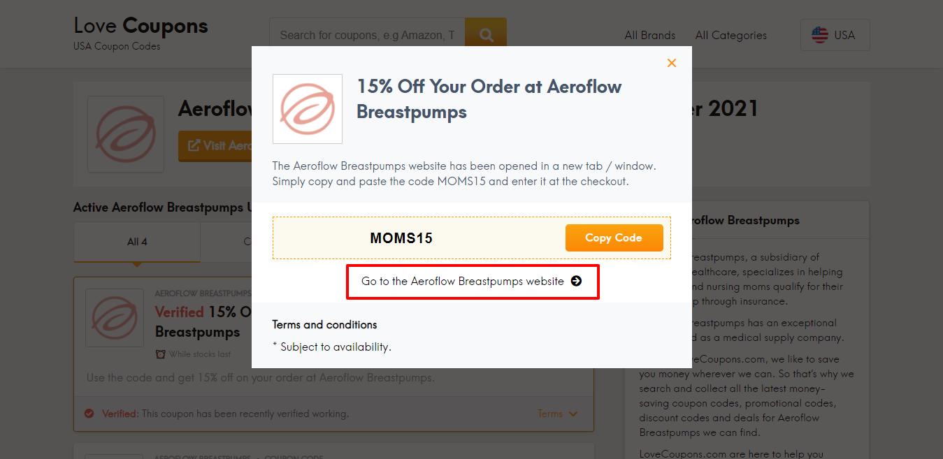 Aeroflow Breastpumps website