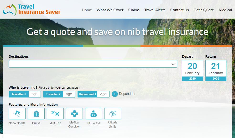 Travel Insurance Saver Homepage