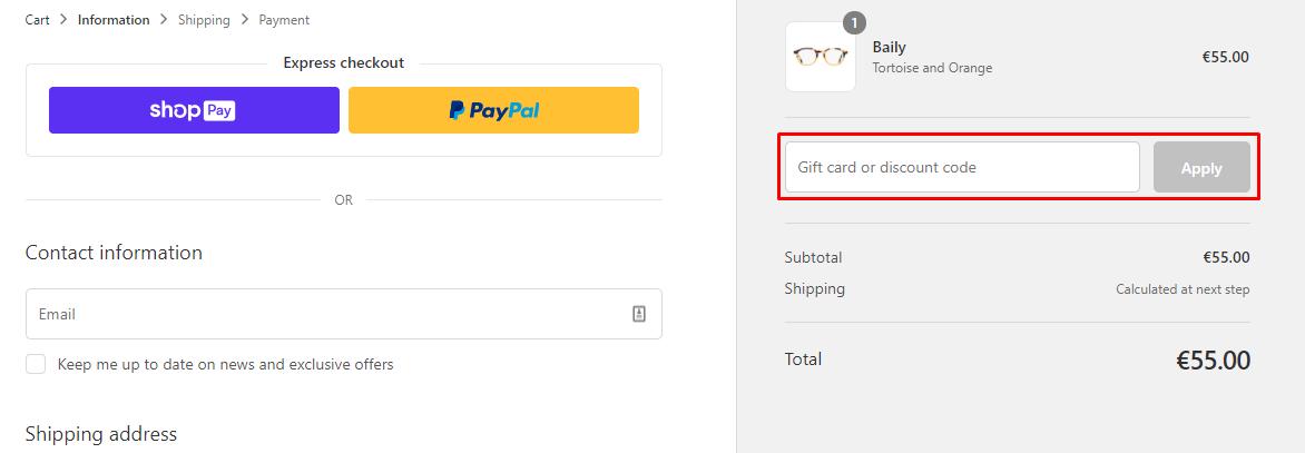 How do I use my Ambr Eyewear discount code?