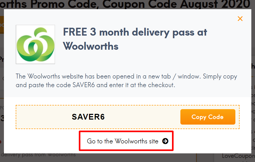 Woolworths go to
