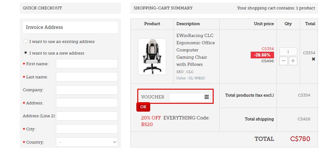 How do I use my Ewinracing voucher code?