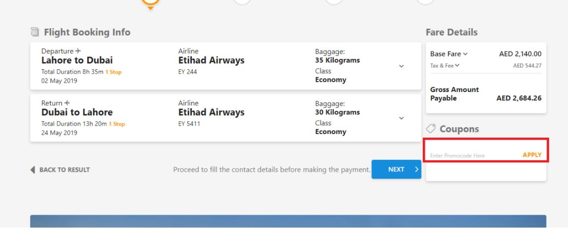 How do I use my Al Kamil Booking promo code?