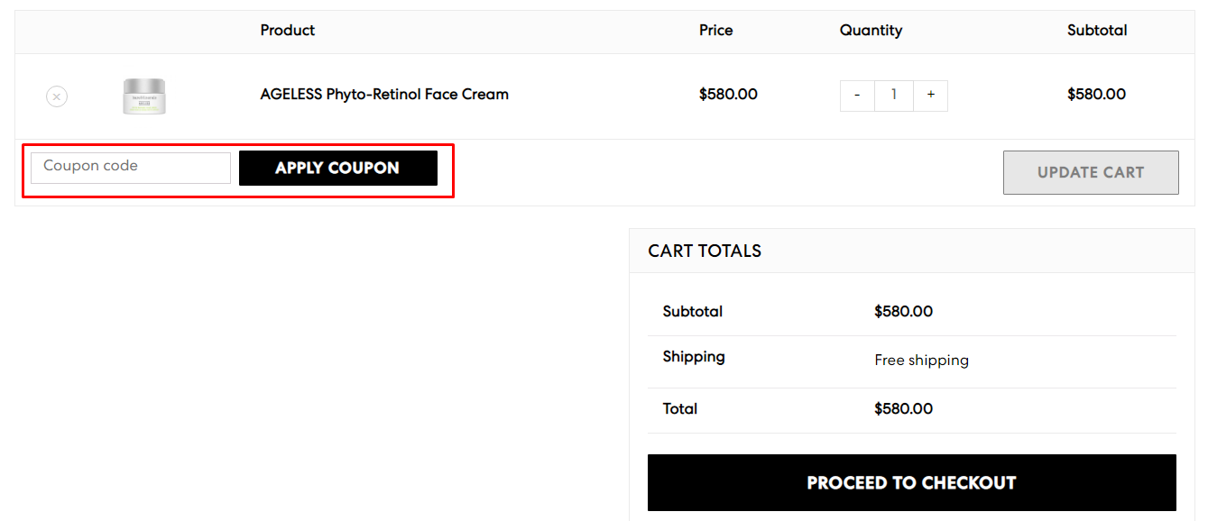 How do I use my bareMinerals coupon code?