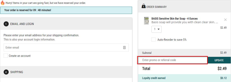 How do I use my Medshop Express discount code?