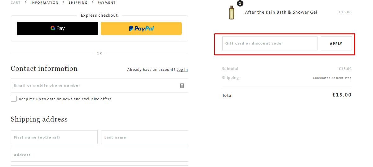 How do I use my ARRAN discount code?
