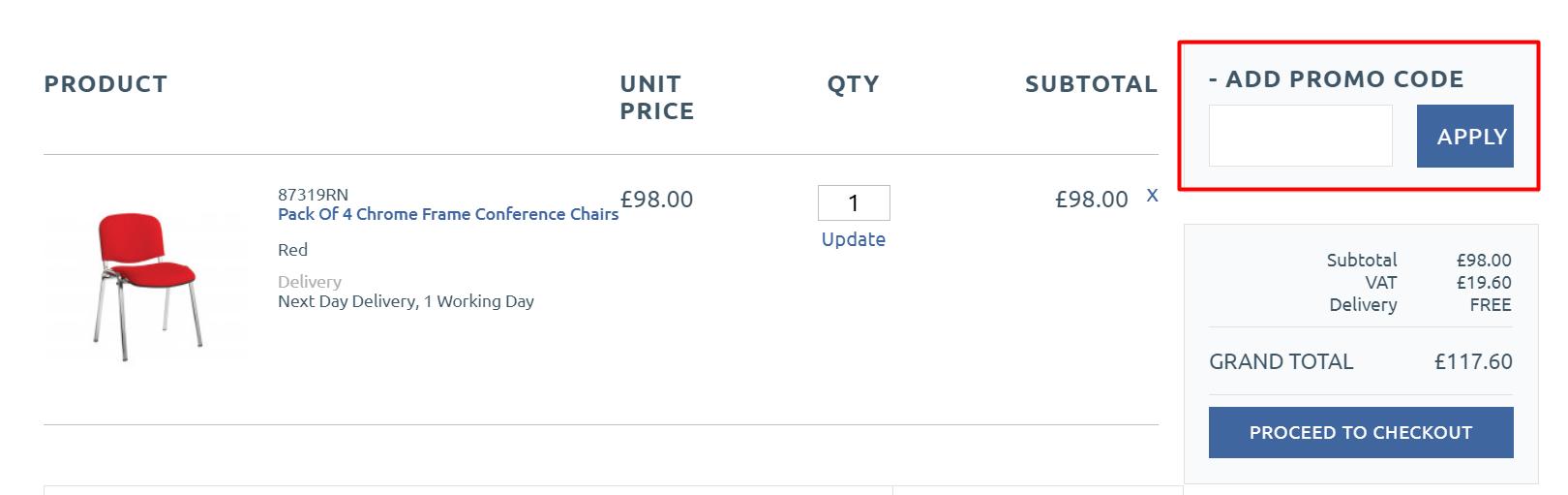 How do I use Furniture@Work discount code?