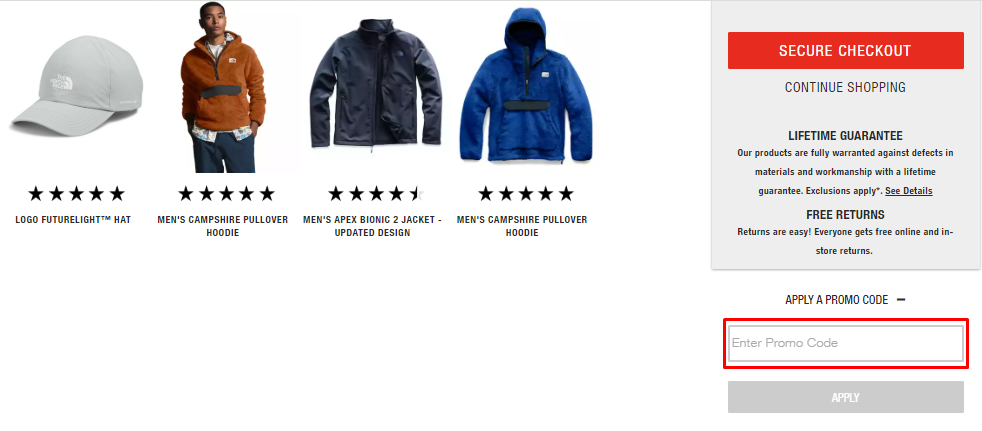 How do I use my The North Face coupon code?