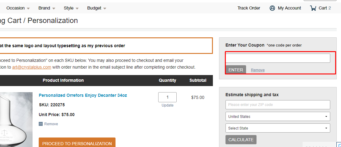 How do I use my CrystalPlus.com coupon code?