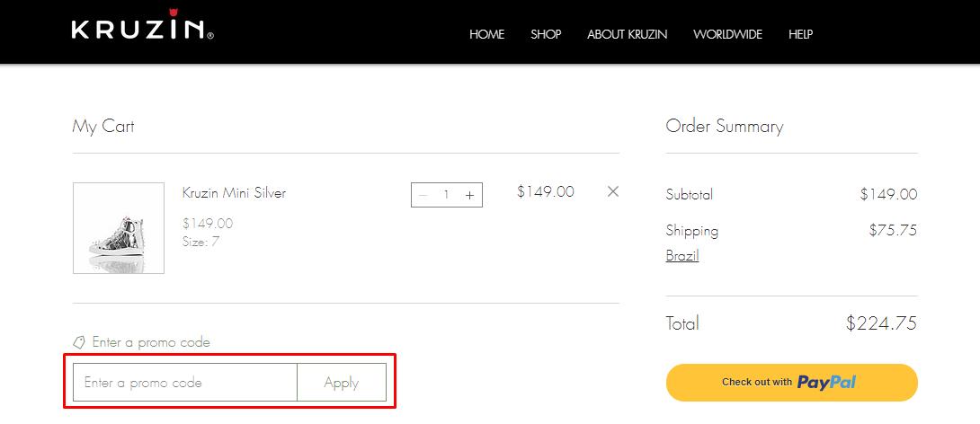 How do I use my Kruzin coupon code?