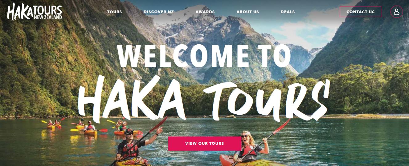 Haka Tours Homepage