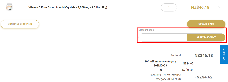 How do I use my Bronson discount code?