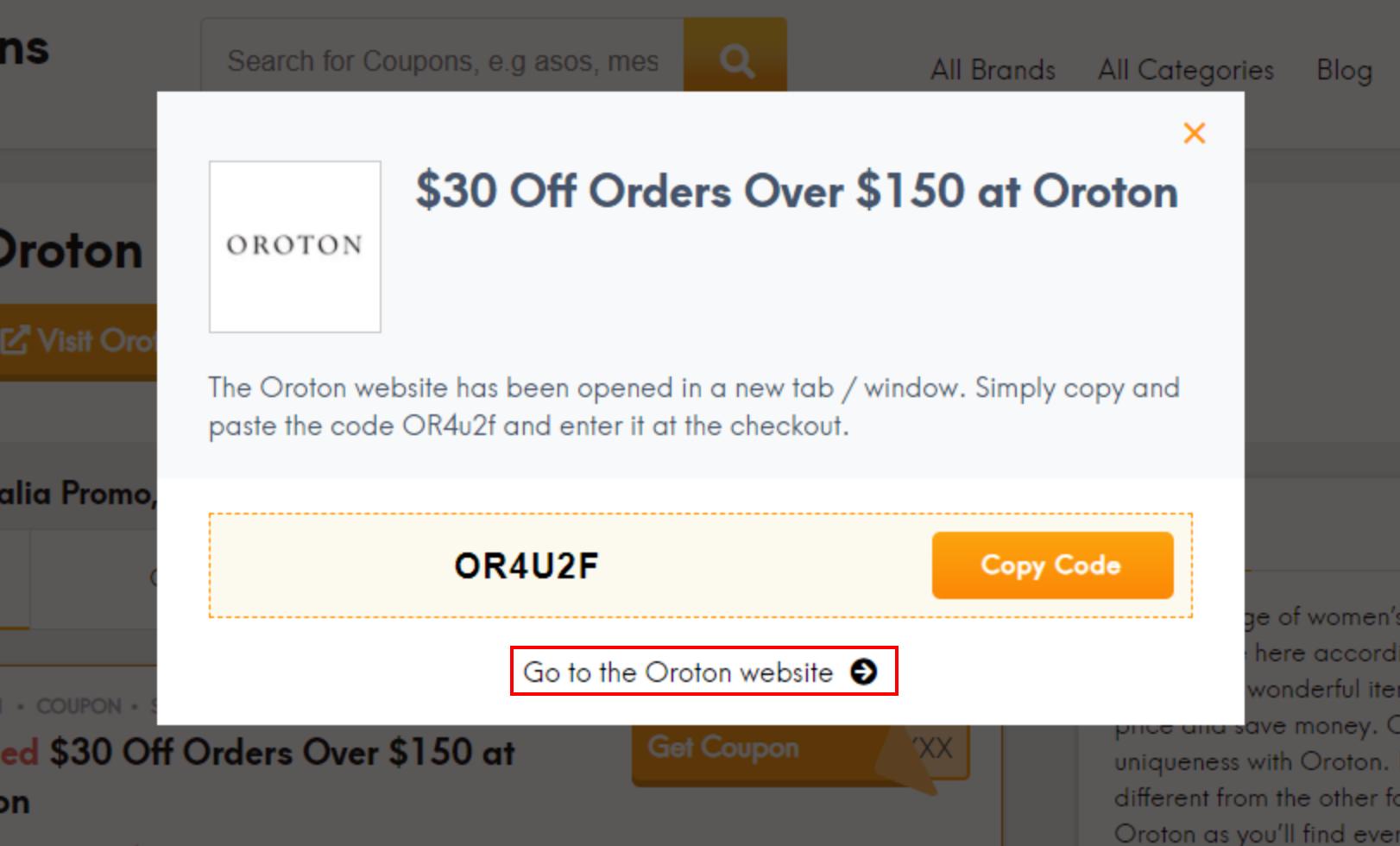 How do I use my Oroton promo code?